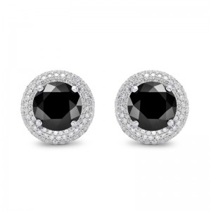 These diamond studs are a perfect example of updated earrings for women or classy cuff links for a gentleman.