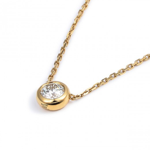 white diamond necklace 18k gold
