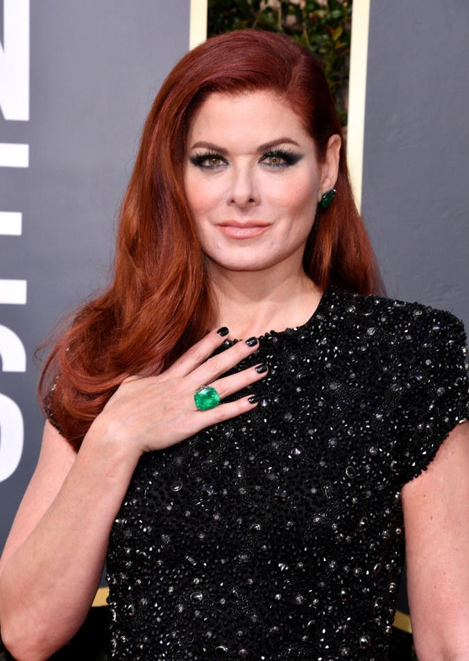 Debra Messing golden globes ring