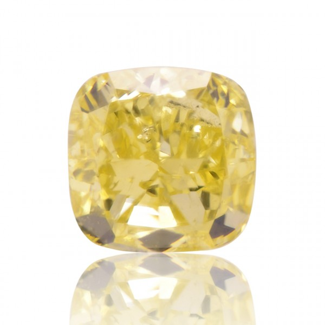 1.50 重量, 浓 黄色 钻石, 枕型 形状, SI2 净度, GIA 认证, 1176232487