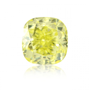 1.03 重量, 浓 黄色 钻石, 枕型 形状, SI1 净度, GIA 认证, 2175439979