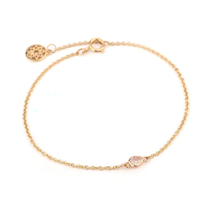 PAIR SHAPE Pink Diamond  chain Bracelet, 0.13 ct, VS