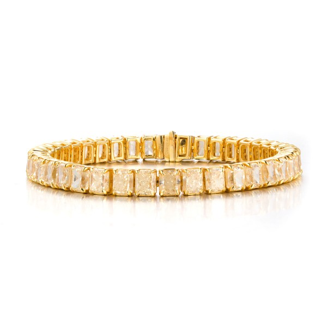 浅 黄色 钻石 手镯, 29.98 重量, 枕型 形状, IGI 认证, M3J32372