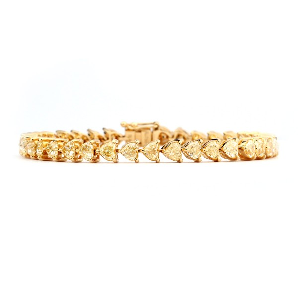 黄色 钻石 手镯, 7.36 重量, VS2