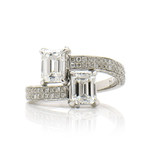 白色 钻石 戒指, 2.01 重量, F, VVS1, GIA
