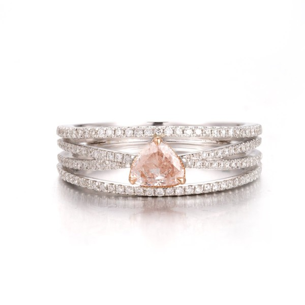 FANCY LIGHT PINK DAIMOND ROSE & WHITE GOLD, 0.34 ct, SI, EG_Lab