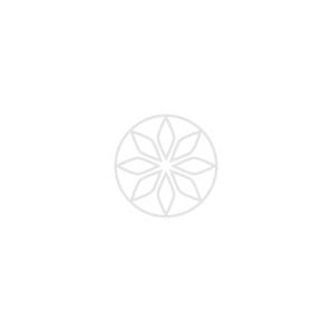 FANCY YELLOW CUSHION CUT HALO DIAMOND RING, 0.51 ct, VS