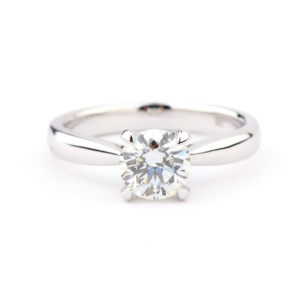 CLASSIC 4 CLAW solitaire diamond ring, 1.07 ct, L, VVS2, GIA