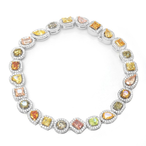 Remarkable rainbow diamond bracelet