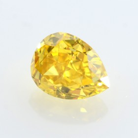 0.30 Carat, Fancy Deep Orangy Yellow Diamond, Pear shape, SI1 Clarity, GIA Certified, 2175729125
