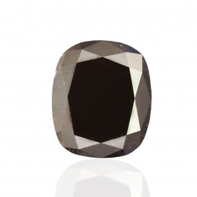 6.60 Carat, Fancy Black Diamond, Cushion shape, GIA Certified, 2151570195