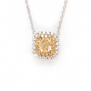 黄色 钻石 项链, 0.69 重量, 镭帝恩型 形状