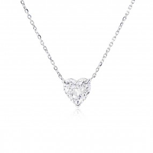 白色 钻石 项链, 1.55 重量, 心型 形状, GIA 认证, 7311768193
