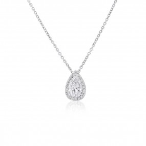 白色 钻石 项链, 0.70 重量 (0.83 克拉 总重), 梨型 形状, GIA 认证, 7352551027