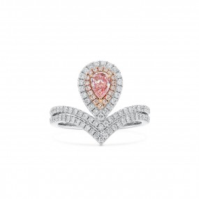 Fancy Brown Pink Diamond Ring, 0.31 Ct. (0.85 Ct. TW), Pear shape, GIA Certified, 2185843709