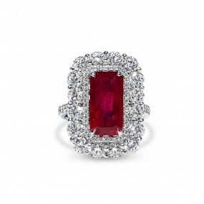 天然 红色 红宝石 戒指, 5.03 重量 (8.14 克拉 总重), GRS 认证, GRS2010-050133T, 烧过