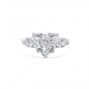 白色 钻石 戒指, 5.01 重量 (5.76 克拉 总重), 心型 形状, GIA 认证, 6311339205
