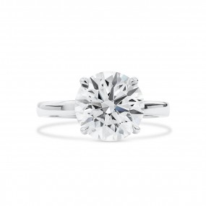 白色 钻石 戒指, 4.12 重量, 圆型 形状, GIA 认证, 5363288415