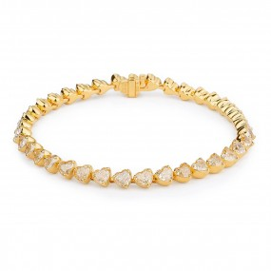 黄色 钻石 手镯, 14.67 重量, 心型 形状, EG_Lab 认证, J5826064839